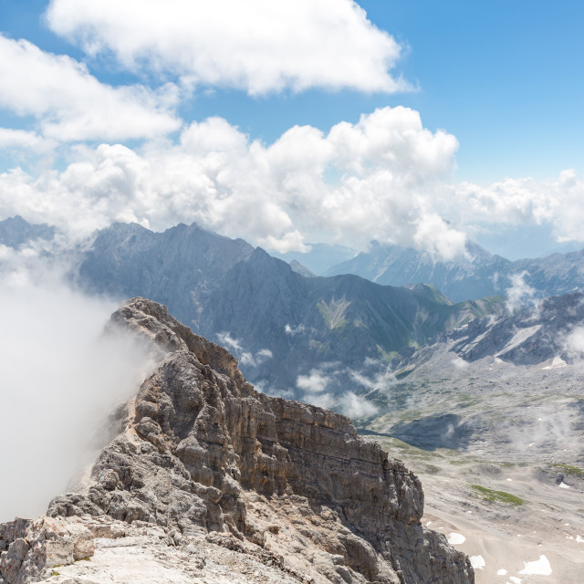 """Zugspitze mountain top of Germany"" stock image"