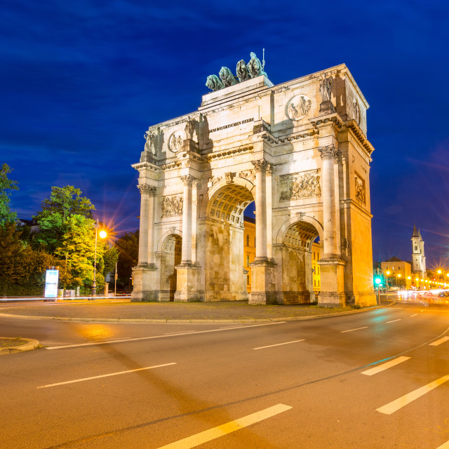 """""""Siegestor Victory Arch Munich Germany"""" stock image"""
