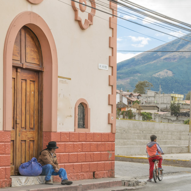 """Otavalo Outsides Indigenous Village in Ecuador"" stock image"