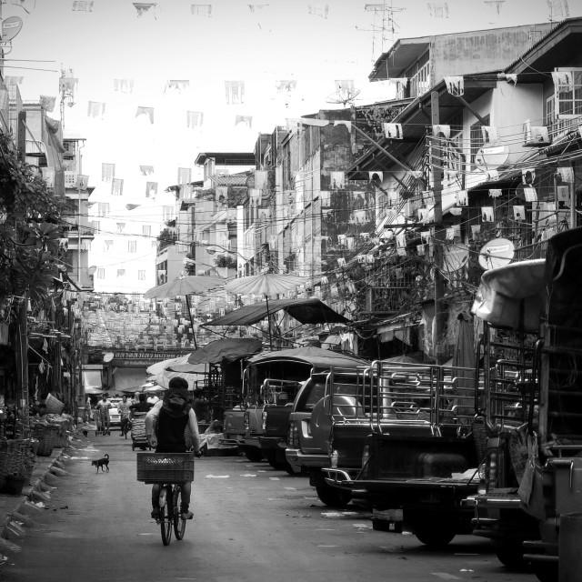 """Busy Bangkok street"" stock image"