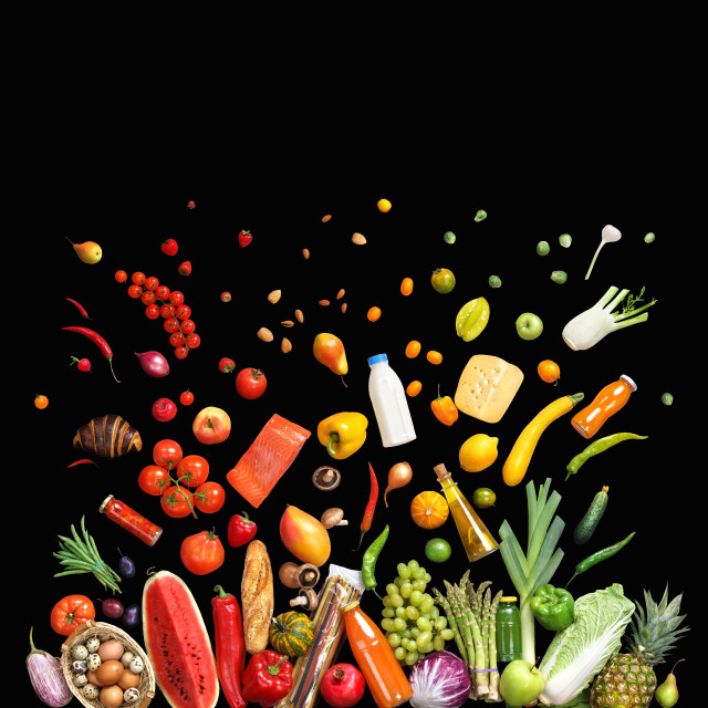 """""""Deluxe food background."""" stock image"""