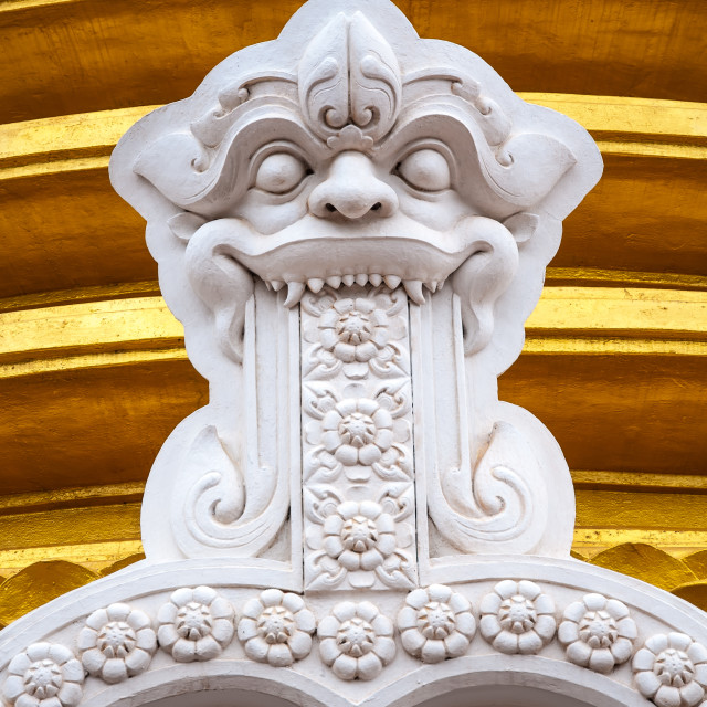"""Buddhist dagoba close up in Golden Temple"" stock image"