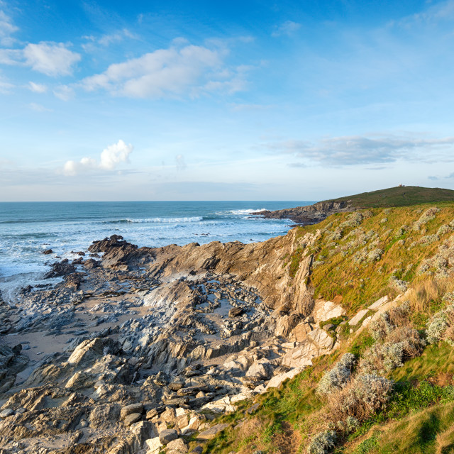 """""""Newquay in Cornwall"""" stock image"""