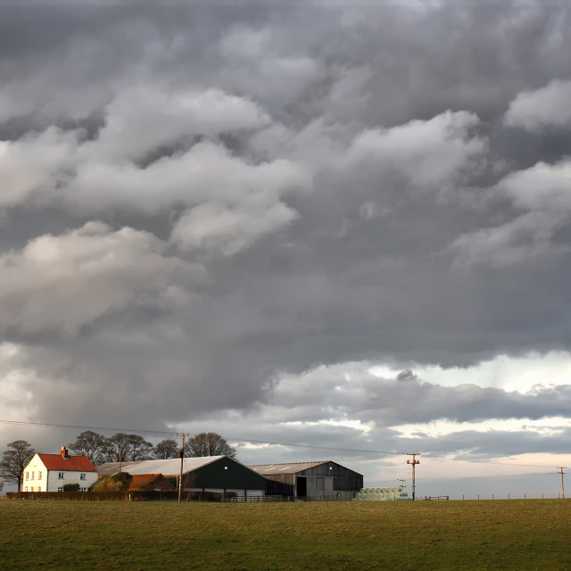 """Storm on the Farm"" stock image"