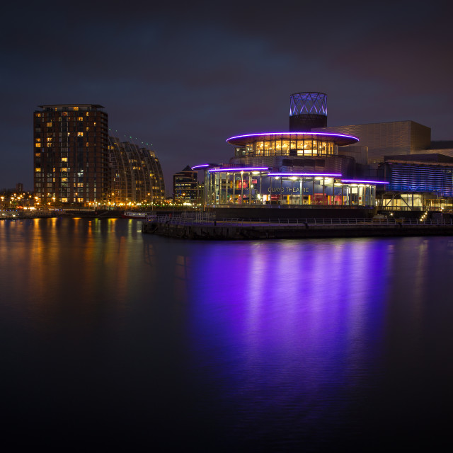 """The Quays night scene"" stock image"