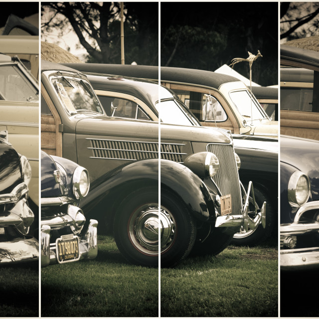 """Vintage Cars Lineup"" stock image"