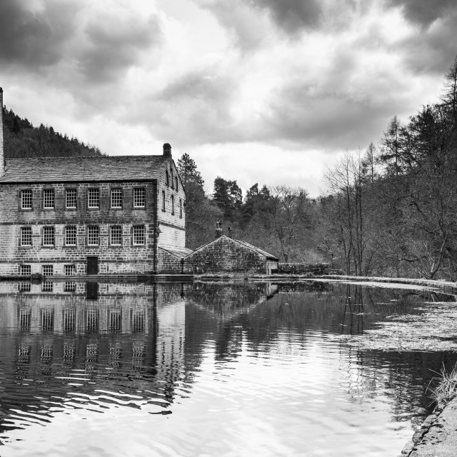 """""""Gibson Mill at Hardcastle Craggs"""" stock image"""
