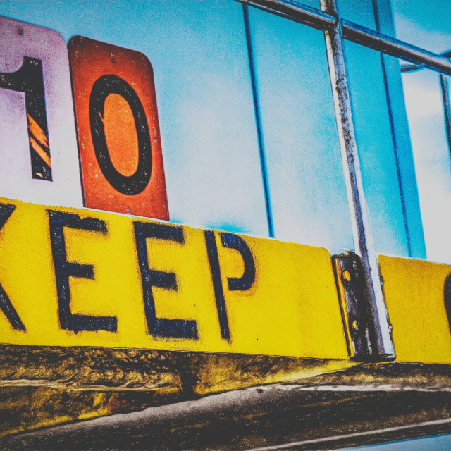 """Keep Off"" stock image"