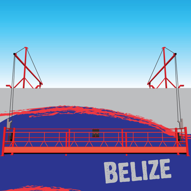 """""""Wall with symbols Belize"""" stock image"""