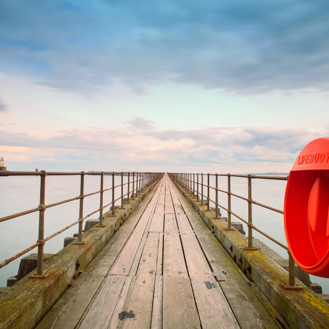 """Blyth Middle Pier"" stock image"