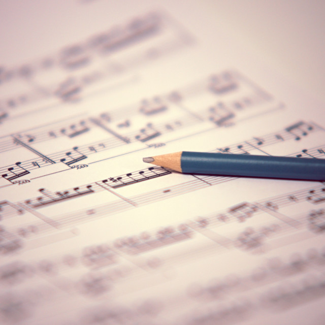 """""""song writen by Beethoven - For Elis"""" stock image"""