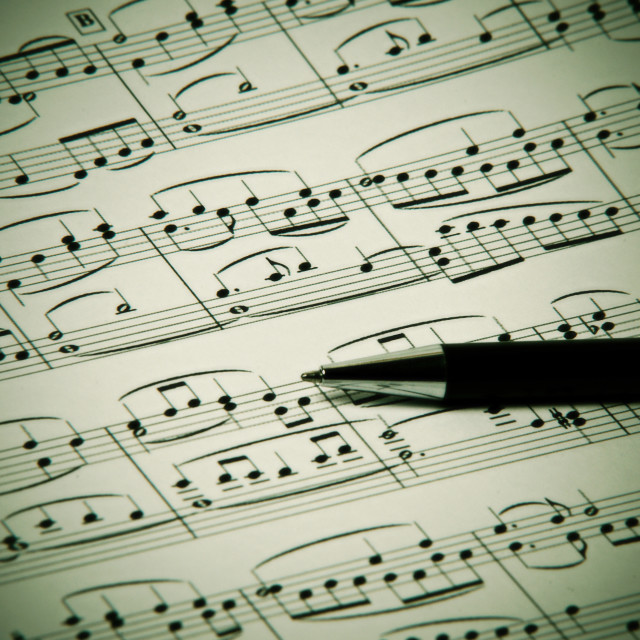 """""""song writen by Beethoven - Ode to Joy"""" stock image"""