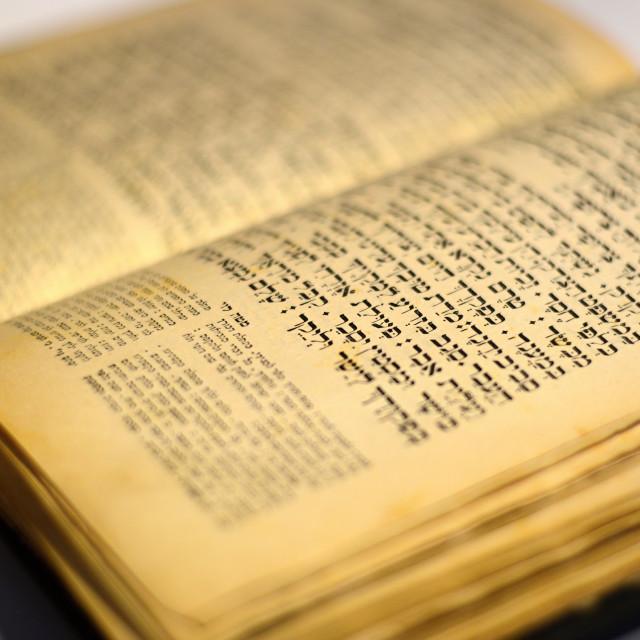 """nice old jewish book"" stock image"