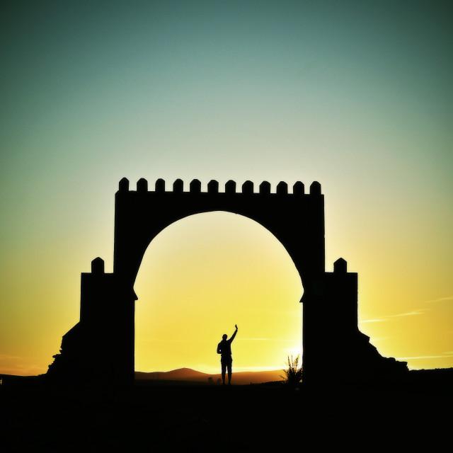 """""""Gate in Antiatlas"""" stock image"""