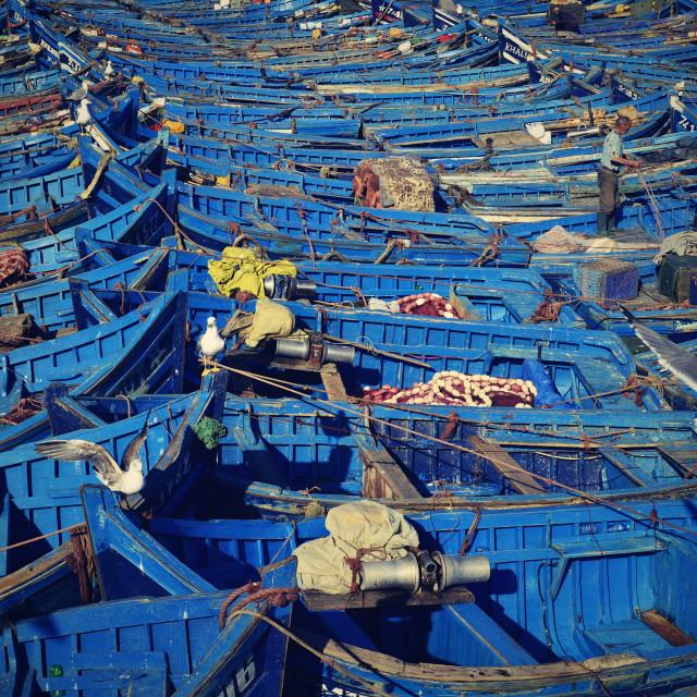 """nice blue boat"" stock image"