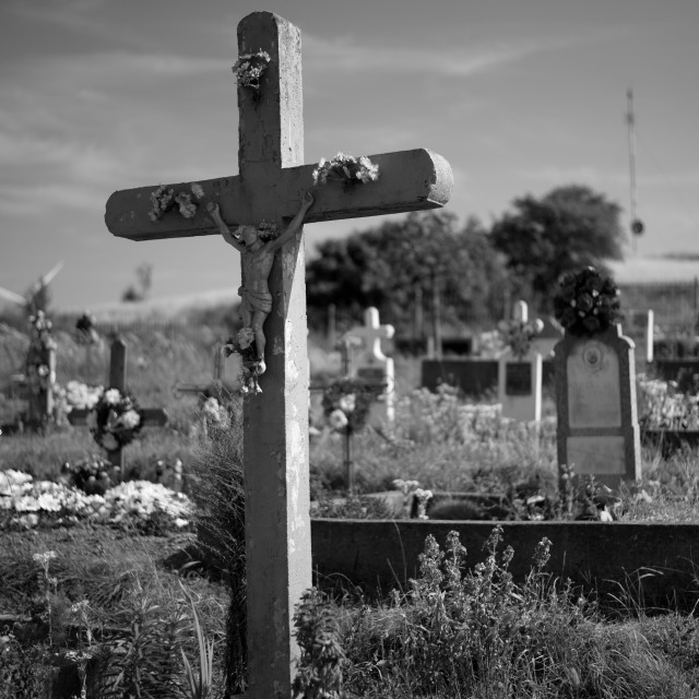 """cross on cemetery"" stock image"