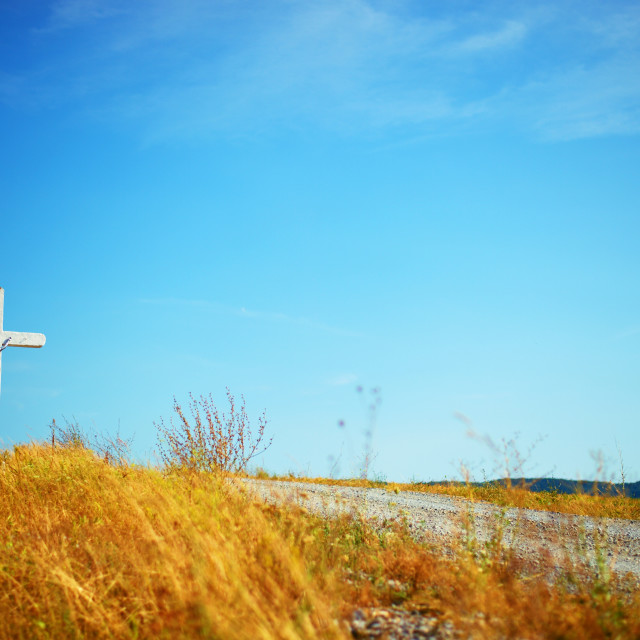 """cross in field"" stock image"