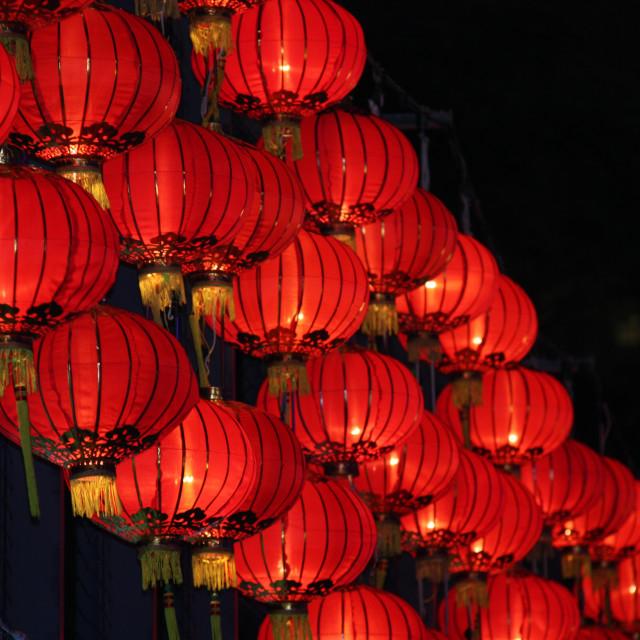"""""""Red lanterns"""" stock image"""