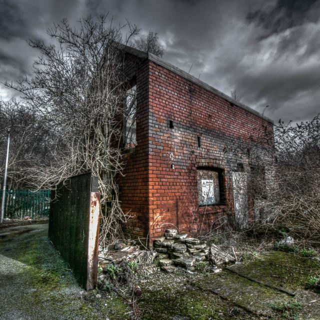 """""""Abandoned Storage Building"""" stock image"""