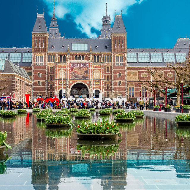 """I love Amsterdam"" stock image"