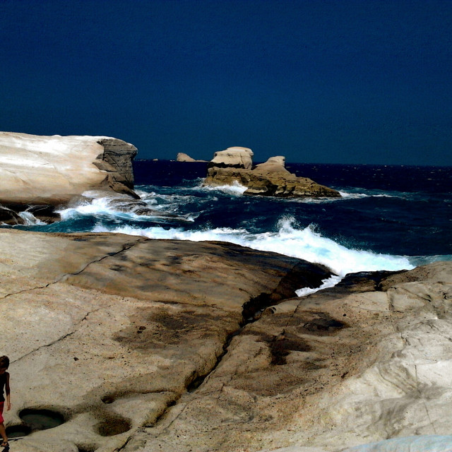 """sea into rocks"" stock image"