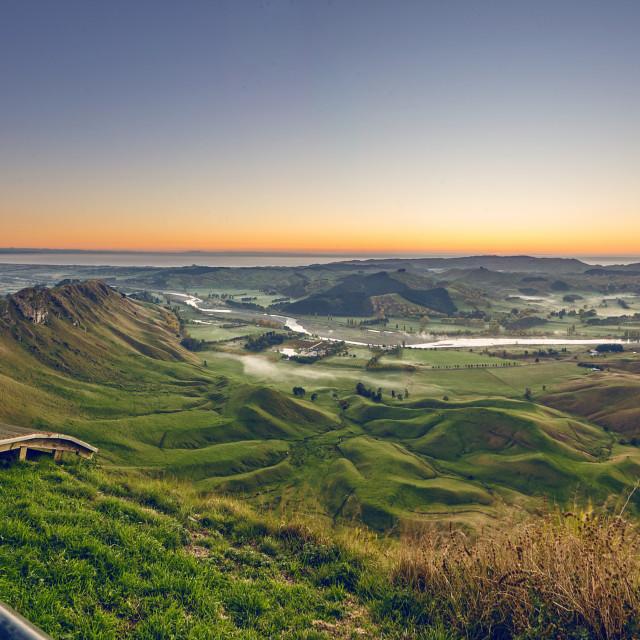 """Pre Dawn view from Te Mata"" stock image"