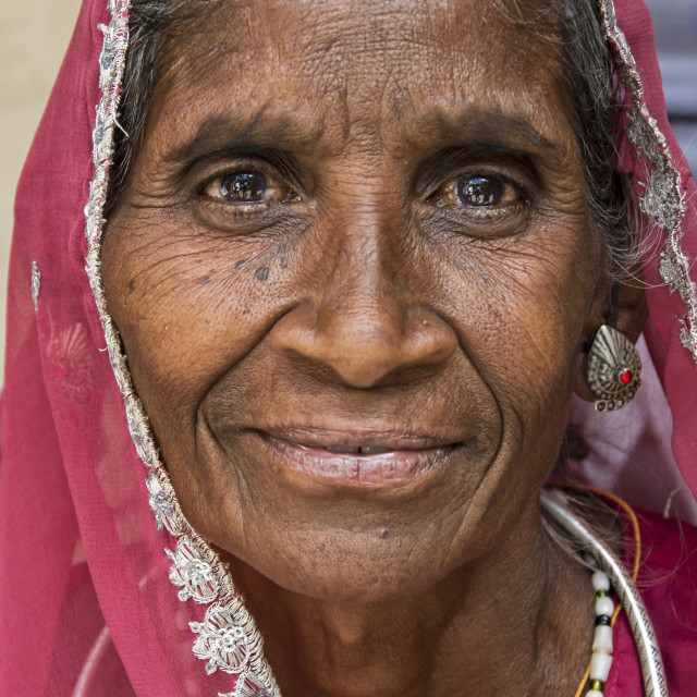 """UDAIPUR WOMAN"" stock image"