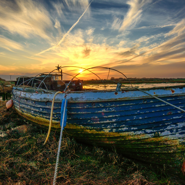 """Sunset Over Landermere Quay Boats 3"" stock image"