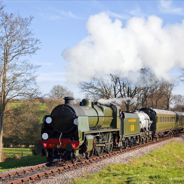 """""""Southern Railway local train in the sunshine"""" stock image"""