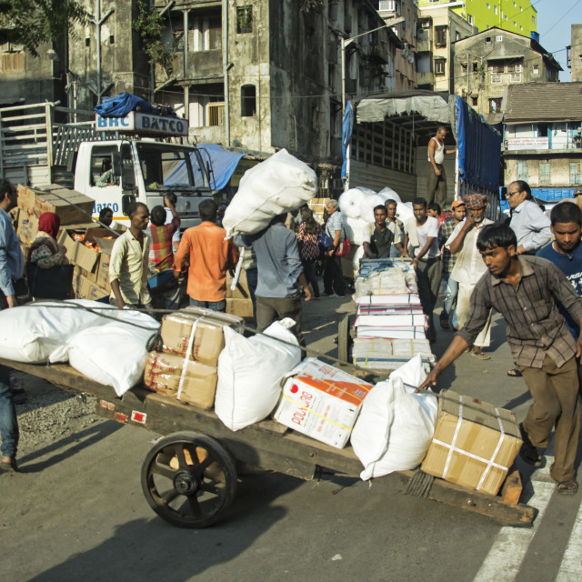 """TRAFFIC JAM MUMBAI STYLE"" stock image"