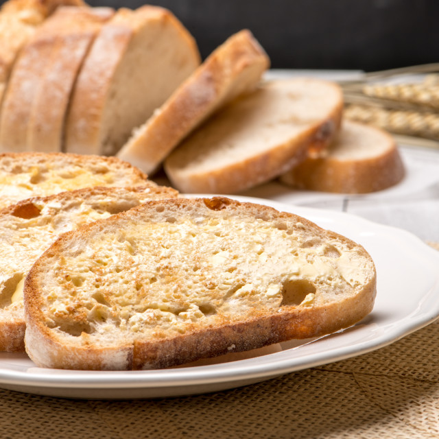 """Breakfast table with toast"" stock image"