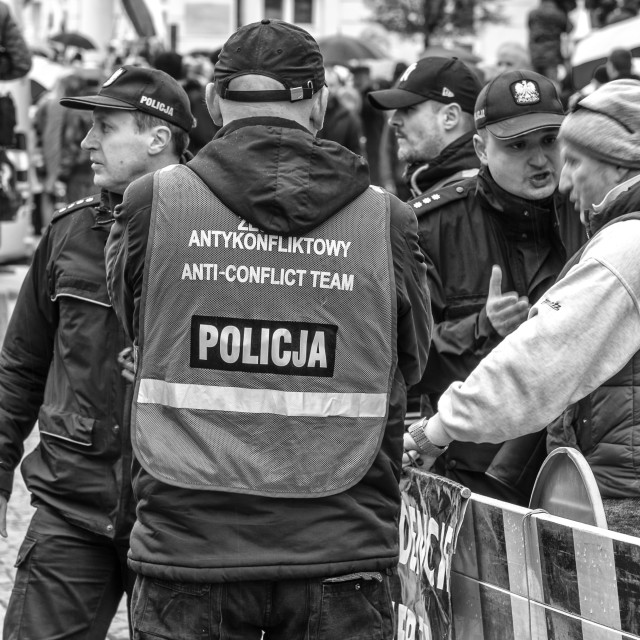 """Street demonstration"" stock image"