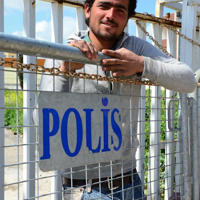 """""""Akcakale - border gate"""" stock image"""
