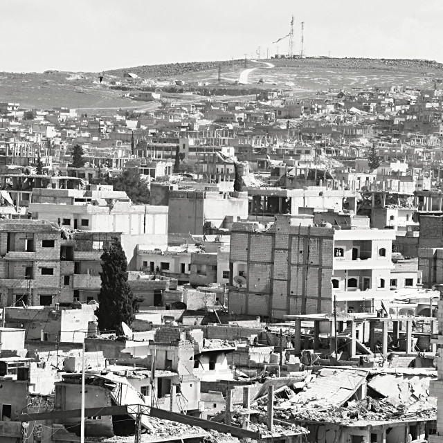 """Ruins of Kobane"" stock image"