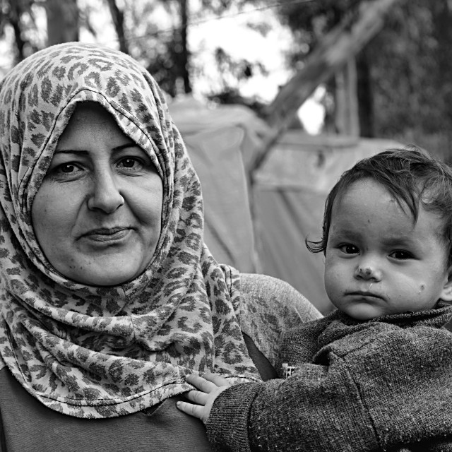 """""""portrait of refugees"""" stock image"""