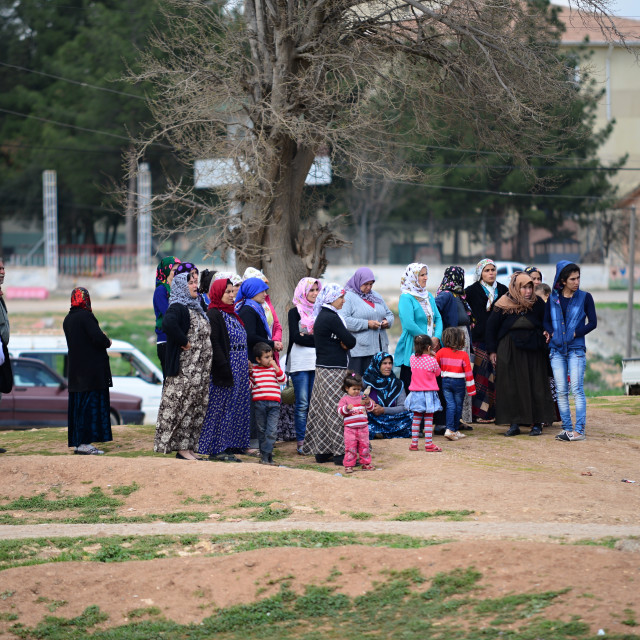 """return into Kobane"" stock image"