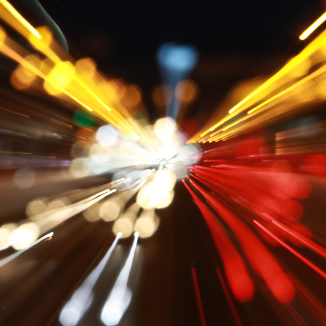 """Abstract city lights"" stock image"