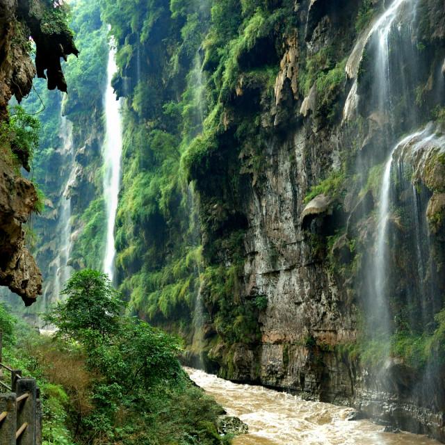 """""""Guizhou Maling River Falls"""" stock image"""