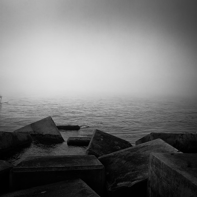 """Drifters in the Mist"" stock image"