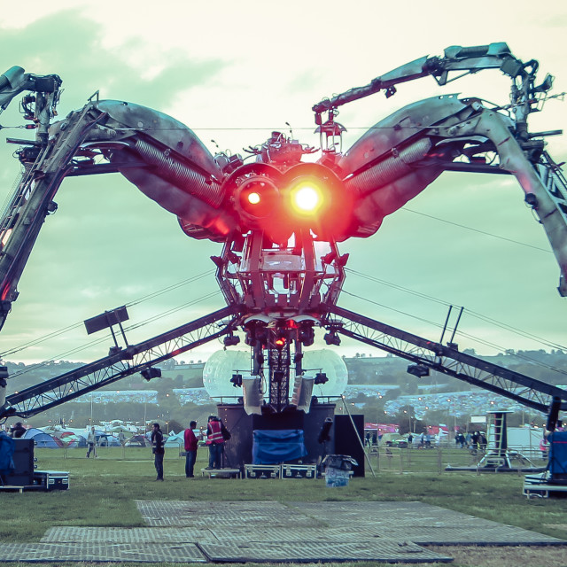 """Arcadia Spider @ Glastonbury 2015"" stock image"