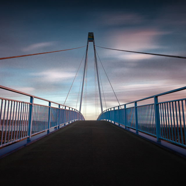 """Pedestrian and cycle bridge"" stock image"