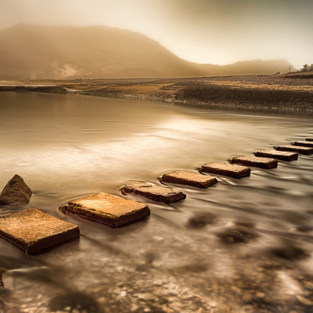 """Stepping stones"" stock image"