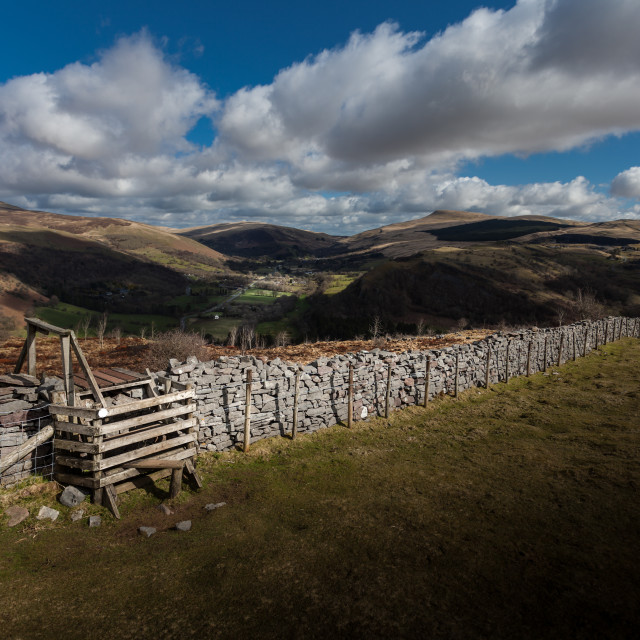 """""""Dry stone wall"""" stock image"""
