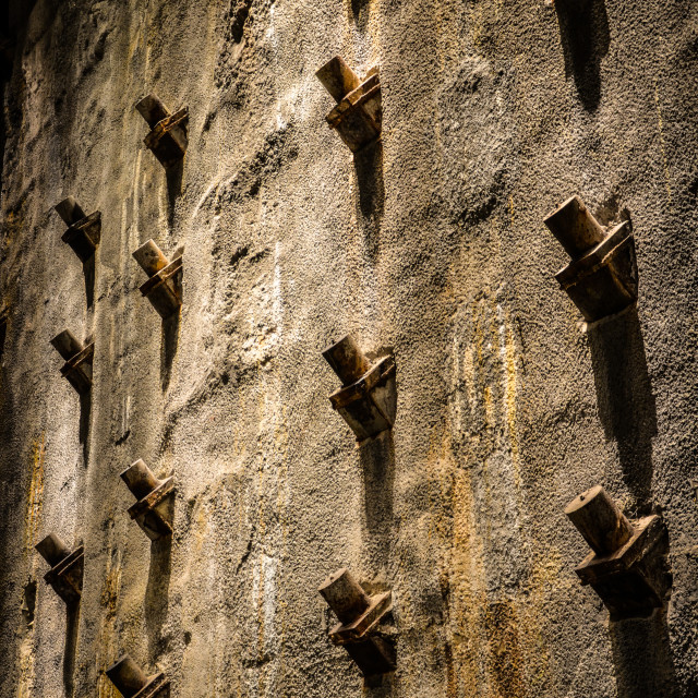 """""""The Slurry Wall"""" stock image"""