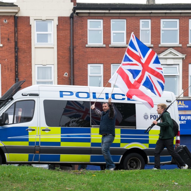 """""""Nationalist and Police Vehicle"""" stock image"""