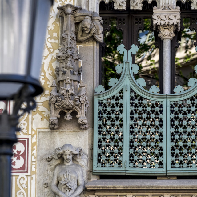 """Paseo de Gracia avenue in Barcelona"" stock image"