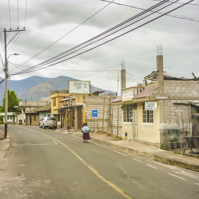 """Otavalo Ecuador Urban Street Scene"" stock image"