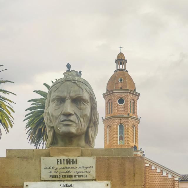 """""""Ruminahui Monumet Otavalo Ecuador"""" stock image"""