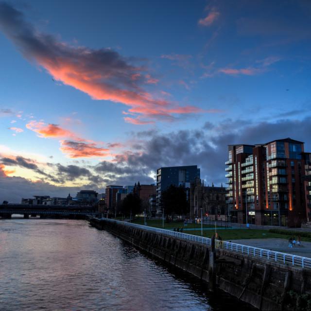 """""""Glasgow sunset"""" stock image"""