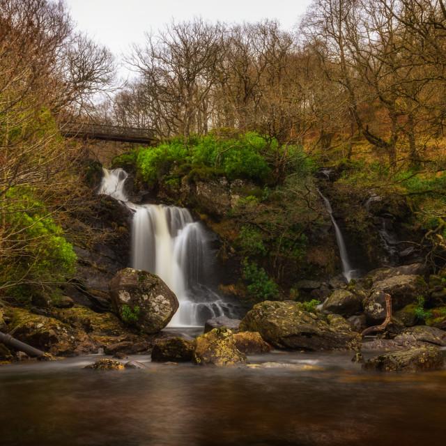 """Inversnaid waterfall"" stock image"